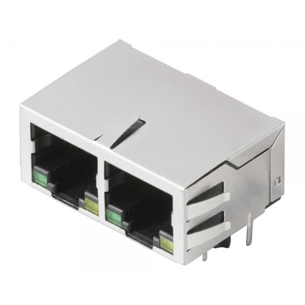 RJ45 twin socket connector product image