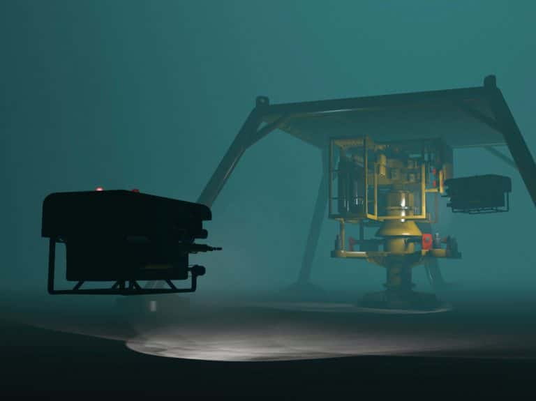 ROV and SKID under water to highlight Subsea applications